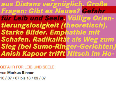 GEFAHR FÜR LEIB UND SEELE