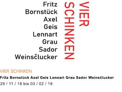 Axel Geis Fritz Bornstück Lennart Grau Sador Weinsčlucker zagreus galerie koch kunst catering
